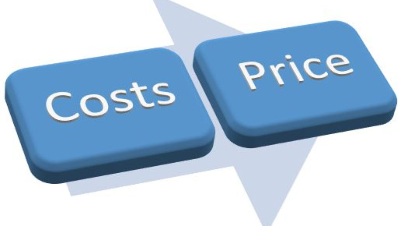Cost based pricing non cost