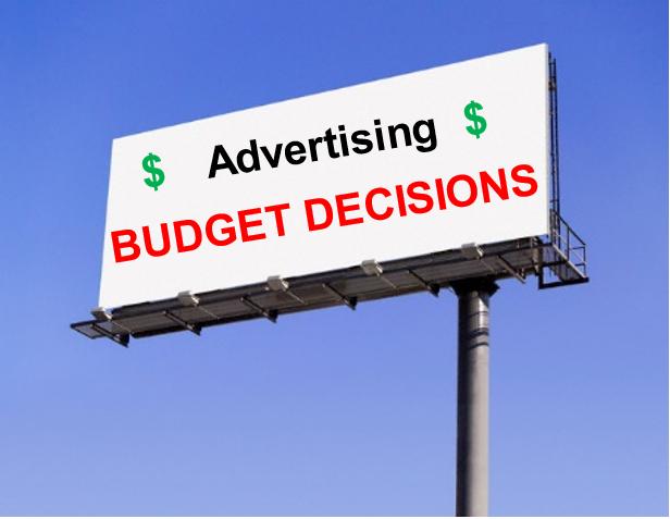 Advertising Budget Decisions - Setting the promotional Budget - Marketing Insider.eu