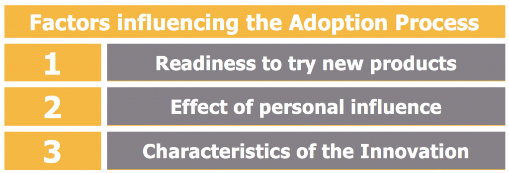 Factors influencing the Adoption Process
