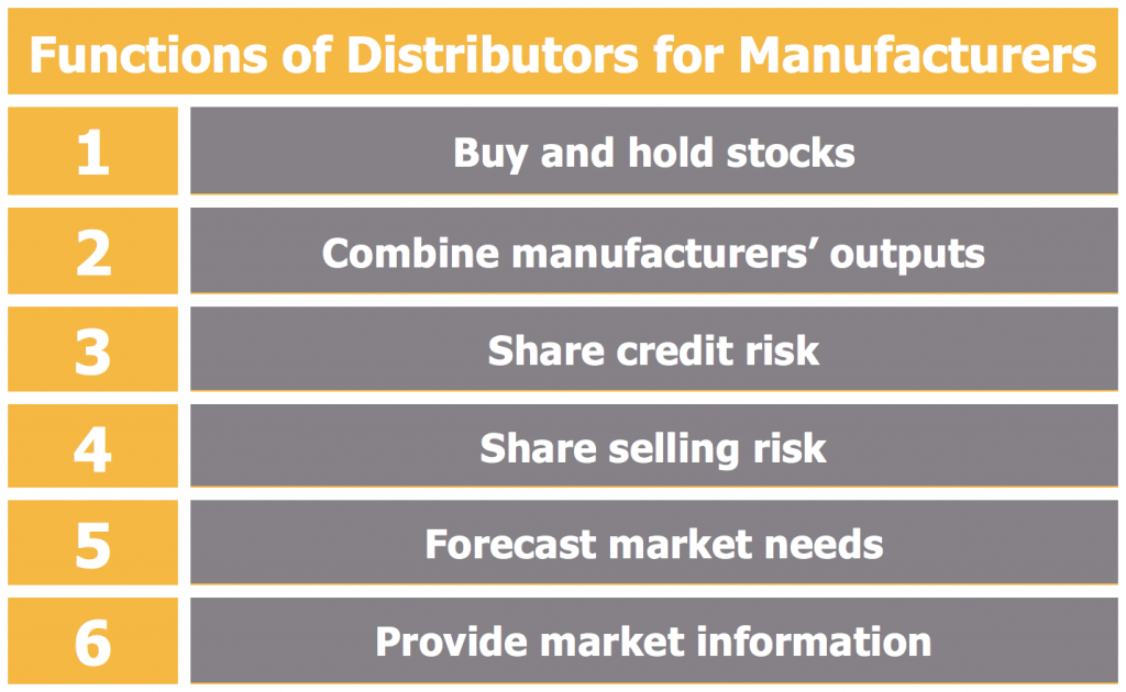 Functions of Distributors for Manufacturers
