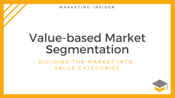 Value-based Market Segmentation – Dividing the Market into Value Categories