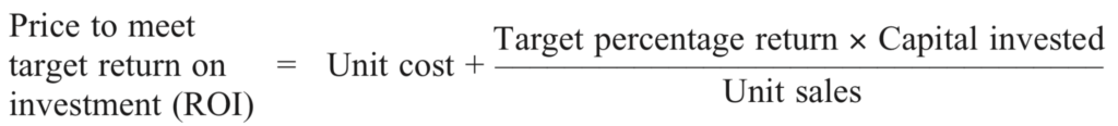 Target ROI Pricing - Formula